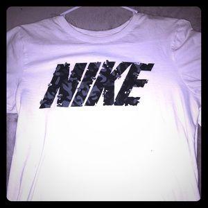 Nike white and black brand T-shirt